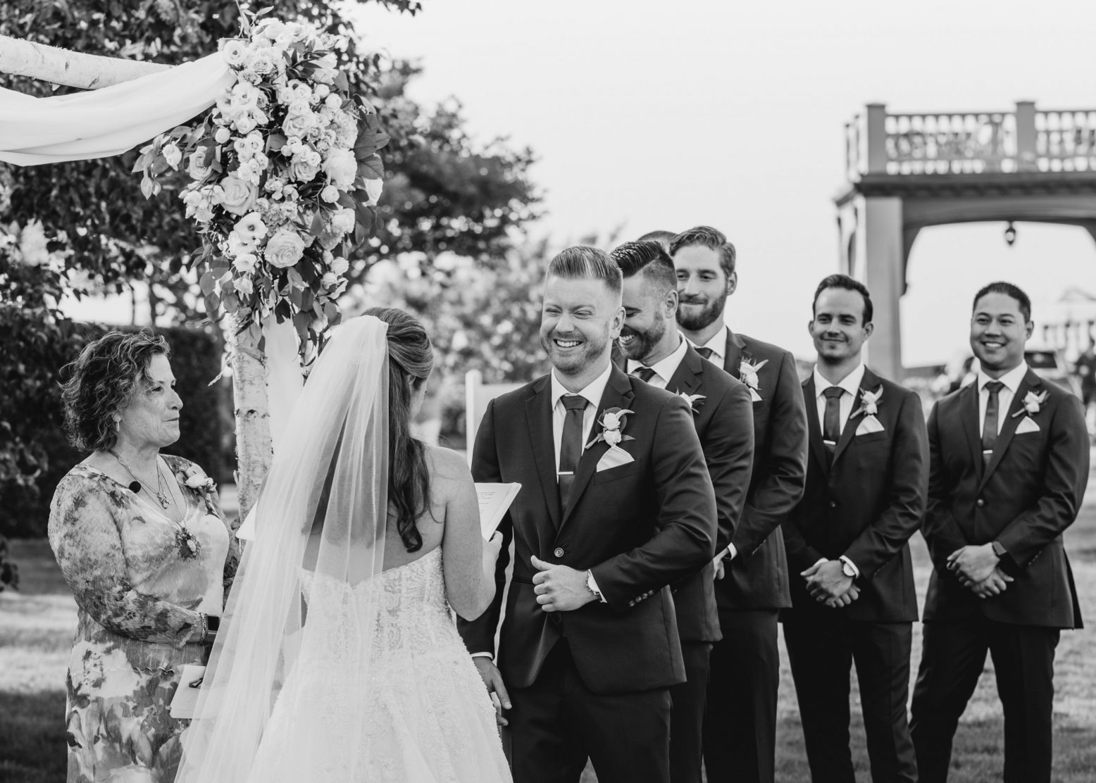 A couple exchanges vows at their Cape Cod wedding | Boston Wedding Photographer