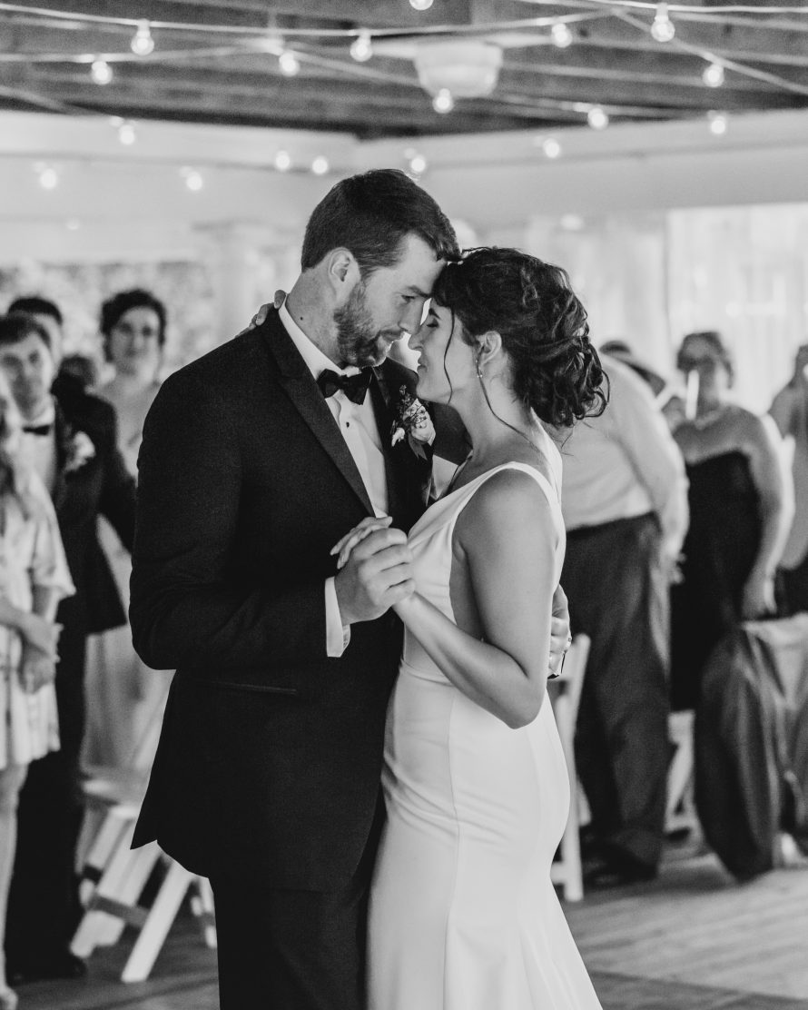 A couple sharing their first dance at a Cape Cod wedding | Boston wedding photographer