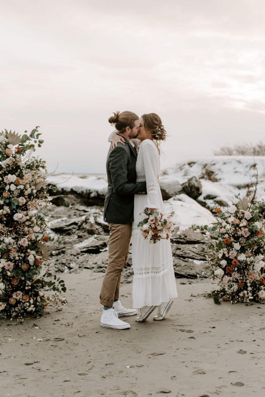 Coastal Maine elopement | Boston wedding photographer