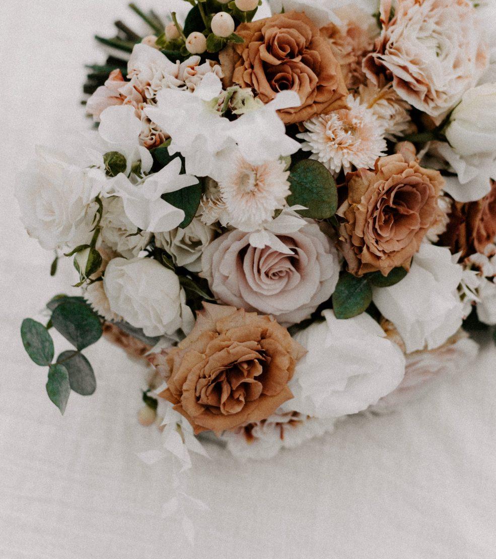 A detail-shot of an elopement bouquet | Boston wedding photographer